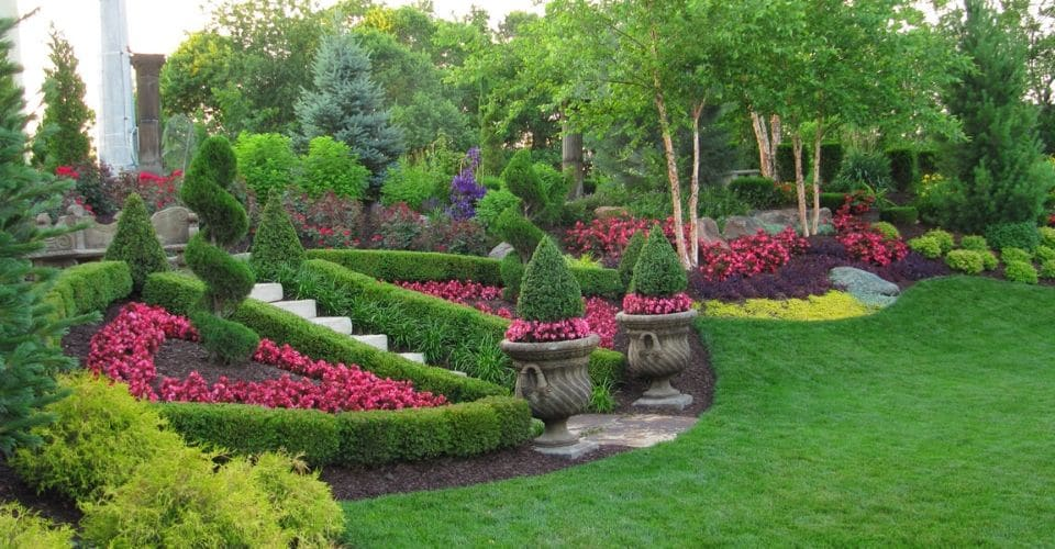 Colorful flowers making this landscape bed look amazing.