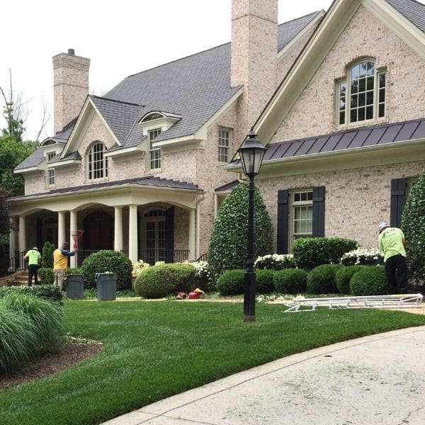 Home in Raleigh maintained by ECM Landscaping and Lawn Care.